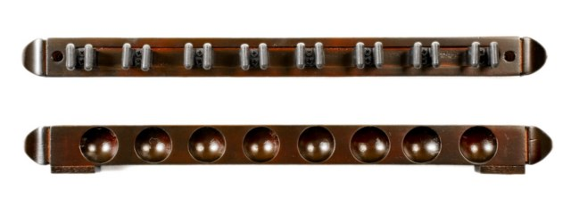 Cue Rack Only - 8 Pool - Billiard Stick - Wall Rack - Holder Mahogany Finish